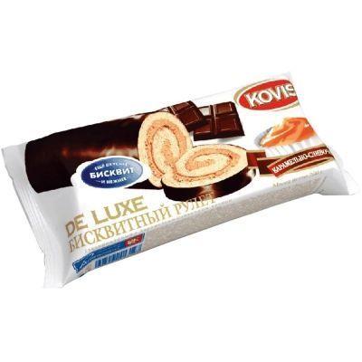 Рулеты бисквитные Kovis de Luxe с карамельно-сливочным кремом