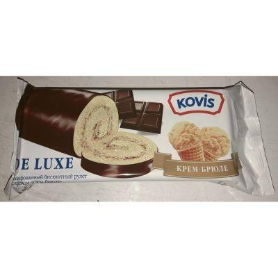 Рулеты бисквитные Kovis de Luxe с крем-брюле кремом