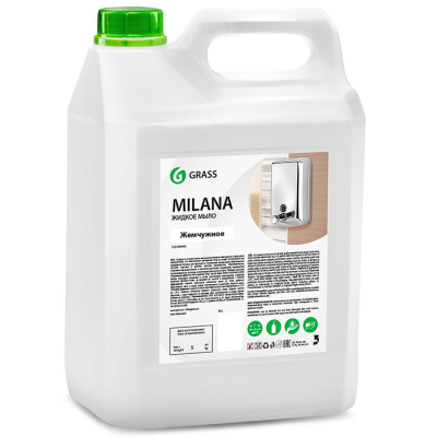 Жидкое крем-мыло GraSS Milana жемчужное канистра