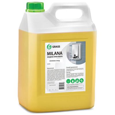 Жидкое крем-мыло GraSS  Milana молоко, мед канистра