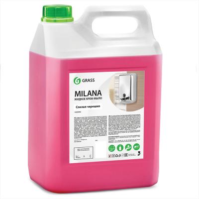 Жидкое крем-мыло GraSS  Milana спелая черешня канистра