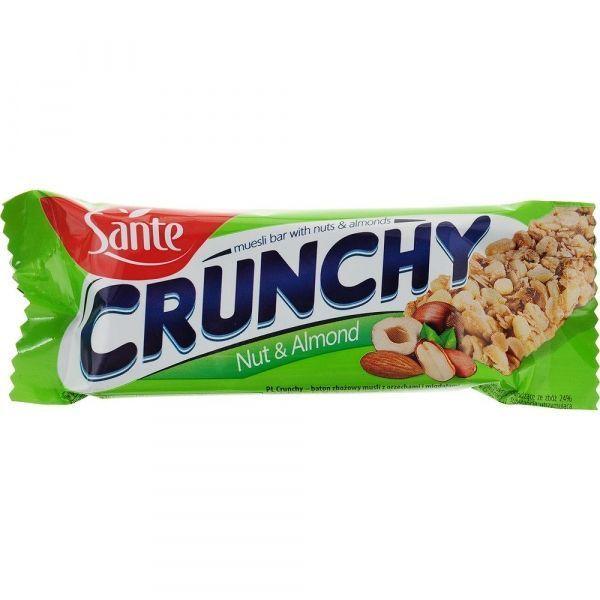 Батончики мюсли Crunchy с орехами