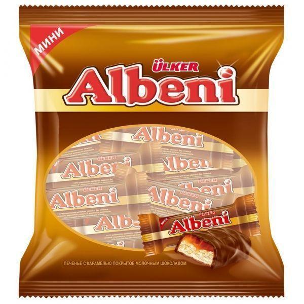 Батончик Albeni мини с карамелью покрытый молочным шоколадом