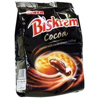 Печенье Biskrem с какао кремовой начинкой
