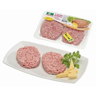 Стейк рубленый Велком Свинина+Говядина с сыром