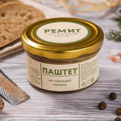 Паштет мясной Ремит Печеночный с маслом