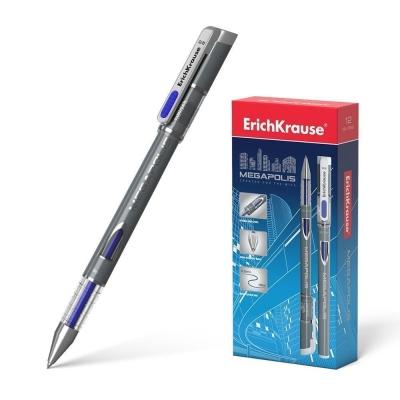 Ручка гелевая ErichKrause MEGAPOLIS Gel цвет чернил синий (в упаковке 1 шт.)