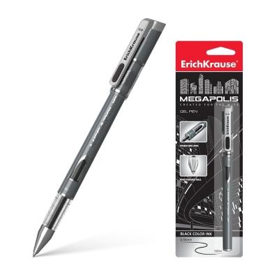 Ручка гелевая ErichKrause MEGAPOLIS Gel цвет чернил черный (в упаковке 1 шт.)