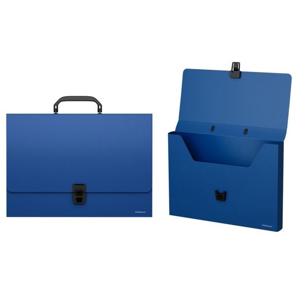 Портфель пластиковый ErichKrause Classic A4 синий