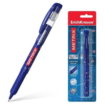 Ручка-роллер ErichKrause Metrix , цвет чернил синий (в упаковке 1 шт.)