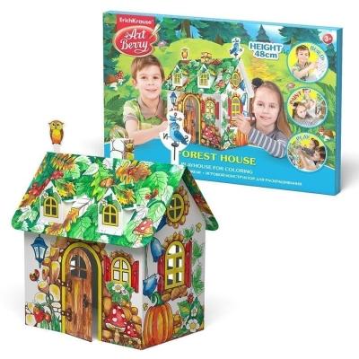 Игровой конструктор для раскрашивания малый ErichKrause Artberry Forest house (коробка)