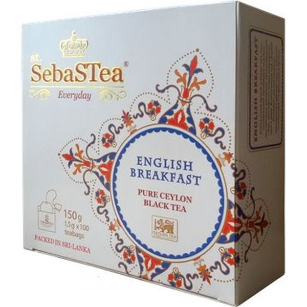 Чай черный SebaSTea English Breakfast 100 пак.