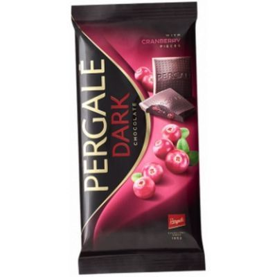 Шоколад темный Pergale с кусочками клюквы