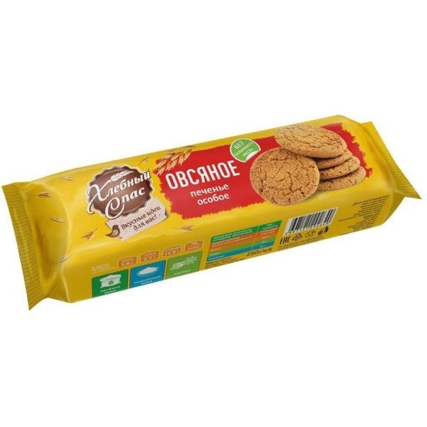 Печенье Хлебный Спас особое овсяное на сахаре