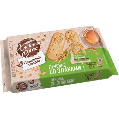 Печенье Хлебный Спас Полезный завтрак со злаками