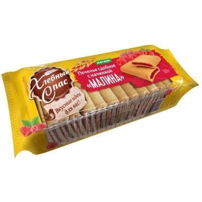 Печенье Хлебный Спас сдобное с начинкой малина