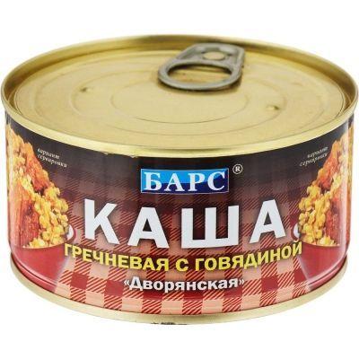 Каша Барс Дворянская гречневая с говядиной ключ