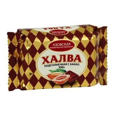 Халва 'Азовская' подсолнечная с какао