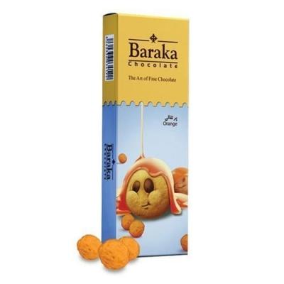 Бисквитные шарики Baraka в молочном шоколаде с апельсиновым вкусом