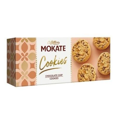 Печенье сдобное песочное 'Мокате' с кусочками тёмного шоколада