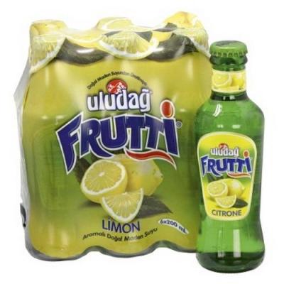 Напиток Uludag Frutti/Улудаг Фрутти безалкогольный среднегазированный со вкусом лимона