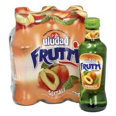 Напиток Uludag Frutti/Улудаг Фрутти безалкогольный среднегазированный со вкусом персика