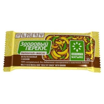 Батончики-мюсли 'Здоровый перекус' с бананом