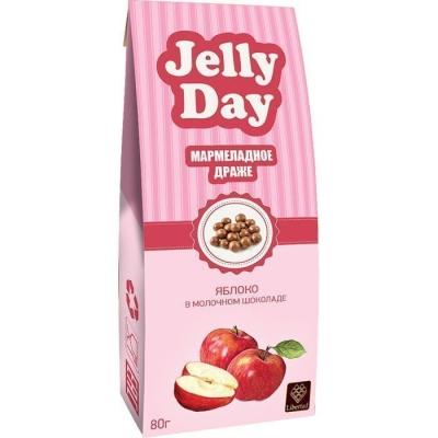 Драже 'JELLY DAY' Мармеладные шарики со вкусом Яблока в молочном шоколаде