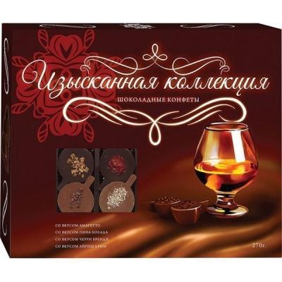 Шоколадные конфеты 'Изысканная коллекция' со вкусом амаретто, пина колада, черри бренди, айриш крим (Ручная работа)