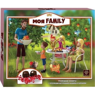 Трюфель 'Моя Family' с кусочками натуральной малины и клубники