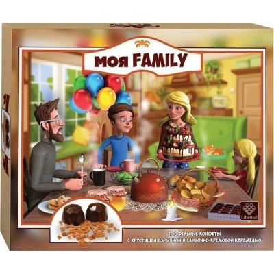 Трюфель 'Моя Family' с хрустящей взрывной и сливочно-кремовой карамелью