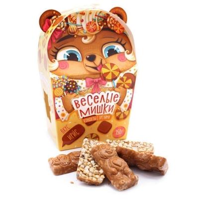 Конфеты с орехами 'Веселые мишки' со вкусом ириса