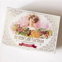 Пастила яблочная в рулете Белевская Старые традиции Ассорти (лесные ягоды, вишня, крыжовник)