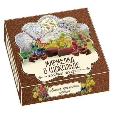 Мармелад в шоколаде Белевский Старые традиции 'Ягодное ассорти' (вишня, крыжовник, черника)
