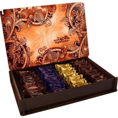 Конфеты из пашмалы Hajabdollah Ассорти 'Традиция' в деревянной упаковке в сумке