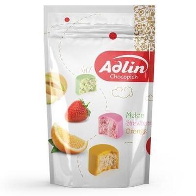 Конфеты из пашмалы Hajabdollah Ассорти со вкусом дыни, клубники и апельсина 'Adlin' zip-пакет