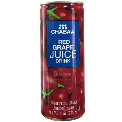 Напиток CHABAA с соком красного винограда ж/б