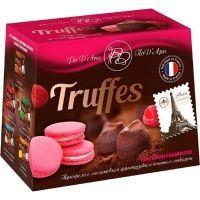 Шоколадный набор ПоД'Ари Трюфель с кусочками печенья Макарон со вкусом малины