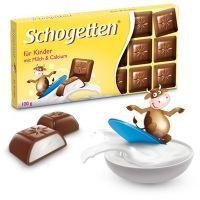 Шоколад молочный Schogetten For Kids Альпийский с кремовой сливочной начинкой