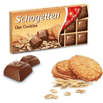 Шоколад молочный Schogetten с кусочками овсяного печенья Oat Cookies