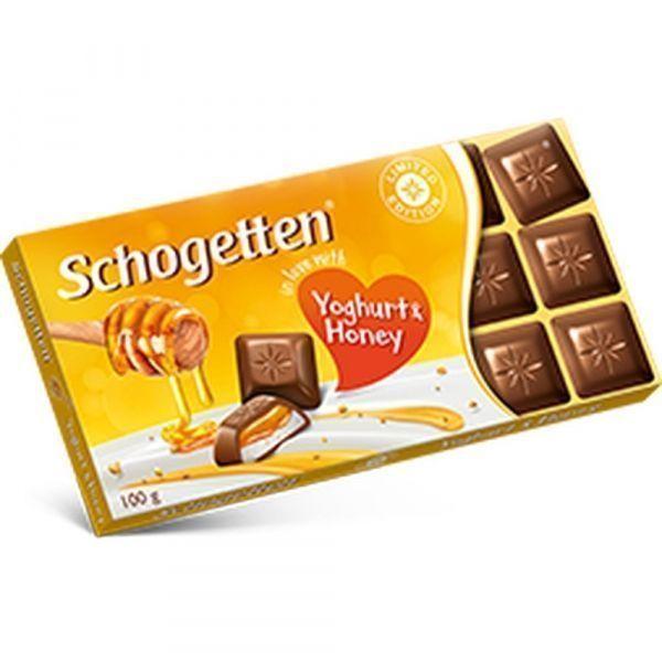 Шоколад молочный Schogetten с начинкой из обезжиренного йогурта, меда и с гранулами меда «Yoghurt&Honey»