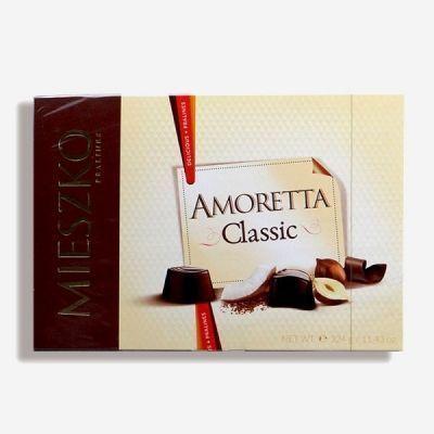 Шоколадный набор Mieszko Amoretta Chocolates Ассорти из темного и молочного шоколада с начинкой (6 вкусов)