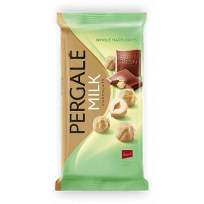 Шоколад молочный Pergale с цельным фундуком