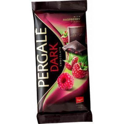 Шоколад темный Pergale с кусочками малины