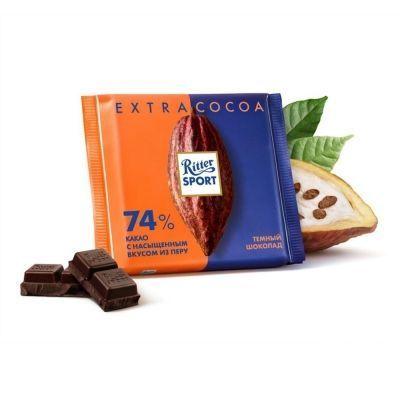 Шоколад Риттер Спорт темный 74% какао
