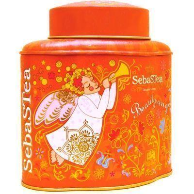Чай чёрный SebaSTea байховый цейлонский листовой Beauty Angel ароматизированный с добавлением натуральных компонентов ж/б
