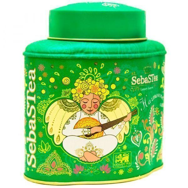 Чай зеленый SebaSTea байховый цейлонский листовой Harmonic Angel ж/б