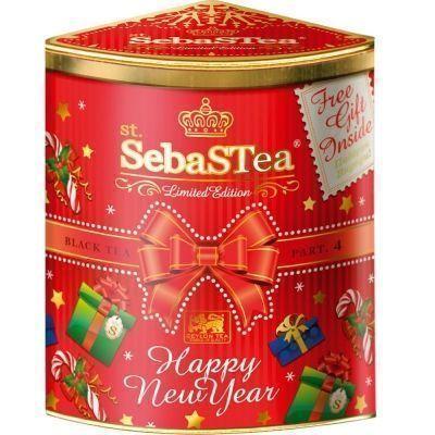 Чай черный цейлонский байховый крупнолистовой SebaSТea Happy New Year Quarter Part ж/б