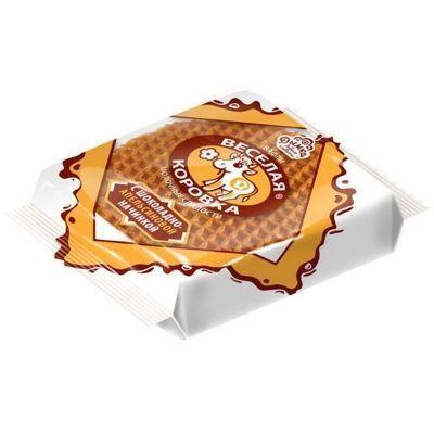 Вафли Дымка Веселая коровка с шоколадно-апельсиновой начинкой