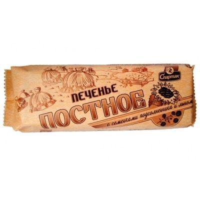 Печенье Спартак Постное с семечками подсолнечника и льном